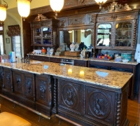 05A..sold..ANTIQUE FRONT & BACK BAR CREATED FROM 3 ANTIQUE SIDEBOARDS..MORE SIMILAR AVAILABLE