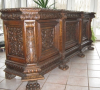 105- sold - antique-carved-front-bar-short-sideboards