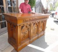 111- sold - antique-carved-front-bar-antique-carved-altar