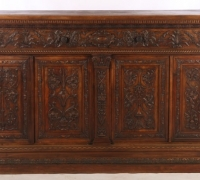 16-2 GREAT FINEST CARVED WALNUT BARS - SIDEBOARDS - (1) - 102'' W X 52'' H X 24'' D ... (1)  - 72'' W X 51'' H X 20'' D - SEE #695 TO 699 - #715 TO # 726