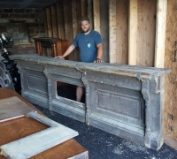 624- 13 ft. long weathered antique bar