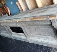 626- 13 ft. long weathered antique bar