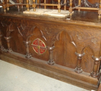 37 D- sold - antique-carved-front-bar-carved-altar