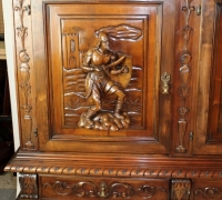 311- FIGURAL FRONT BAR - 53'' H WITH LEGS - 42'' H WITHOUT LEGS - 96'' L X 21 1/2'' D