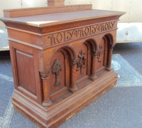 59- sold - antique-carved-front-bar-antique-carved-altar
