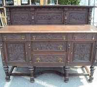 61-sold -antique-carved-front-bar-short-sideboards