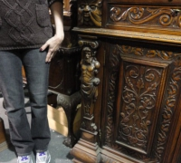 64-sold -antique-carved-figural-front-bar-short-sideboards