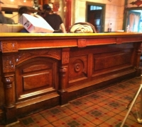 71-sold...RARE - GREAT CARVED 19 ft 6'' - antique front bar - C. 1870 antique-back-bar-with-rare-marble-columns-and-matching-front-bar-with-carvings-back-bar