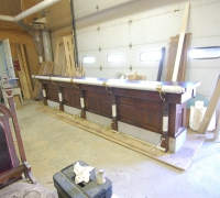 24 - FINEST  ANTIQUE   FRONT  BAR  IN THE   USA  !!!!   16 FT LONG