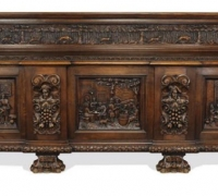 25...sold... OAK 138 W X 50.H X 23 D SIDEBOARD....C.1890