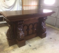 06...GREAT CARVED WALNUT FRONT BAR/ISLAND 67