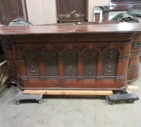 15...9 FT 6 IN. MAHOGANY FRONT BAR....SEE 842 TO 848