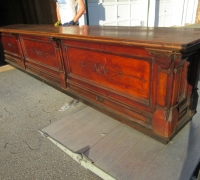 07- GREAT WALNUT CARVED FRONT BAR - 15' 8'' L X 34'' H (CAN RAISE) X 28'' D - C 1870