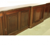 11- Two Almost Matching Antique Front Bars - Walnut - 16 ft. Long - Finest Detailing - C. 1880