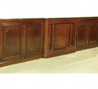 646- Two Almost Matching Antique Front Bars - Walnut - 16 ft. Long - Finest Detailing - C. 1880