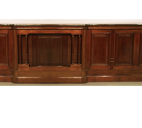 44-sold.... Two Almost Matching Antique Front Bars - Walnut - 16 ft. Long - Finest Detailing - C. 1880