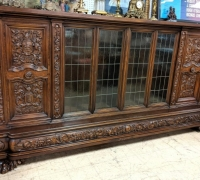 03C...GREAT ANTIQUE CARVED CABINET 12 FT L X 78
