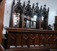 04-sold....antique-carved-altar-top-into-back-bar-gothic-railing-into-front-bar