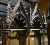 100-sold - set-of-antique-carved-gothic-throne-chairs