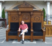 18* - 2 Great Similar Throne Chairs - 100'' W X 94'' H X 30'' D - See pictures #123, #124, #115 to #118