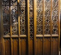 20* -1 of 10 Different Pairs of Gothic Doors - 8 ft H X 7 ft long
