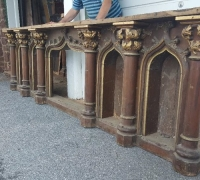 25A....GREAT CARVED 10' L FRONT BAR