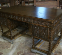 1293- sold -Gothic-Desk- 1 of 5 - 60'' W X 30''D