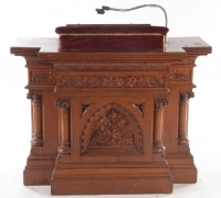 05......GREAT CARVED 48 W ALTAR....15 MORE PULPITS