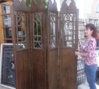 32* -Carved Gothic Screen - 96'' H X 66'' W