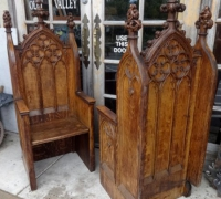 52-sold - pair-of-antique-carved-gothic-chairs