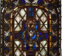 55......48 H X 40.5 W STAINED GLASS WINDOW....C. 1880