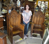 53-sold - pair-of-antique-carved-gothic-chairs