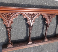 61-sold -antique-carved-gothic-railing-34-ft-long-x-28-h