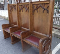 74-set-of-3-antique-carved-gothic-benches-chairs