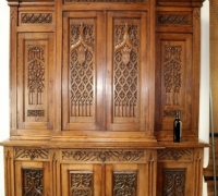 46....GOTHIC OAK SIDEBOARD...117 H X 80 W X 27 D....SEE 1496 TO 1500