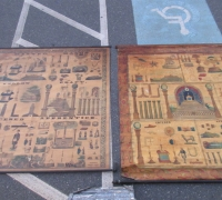 30....RARE 2 SIGNED C. 1863 MASONIC CHARTS...6' W X 7' H SEE 1262 TO 1290