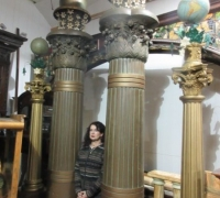 13....HUGE GREAT 10 FT H MASONIC COLUMNS