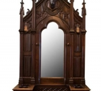"06...GOTHIC WALNUT HALL RACK...114"" H X 51"" W"