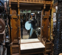 60-antique-carved-hall-rack-hall-mirror