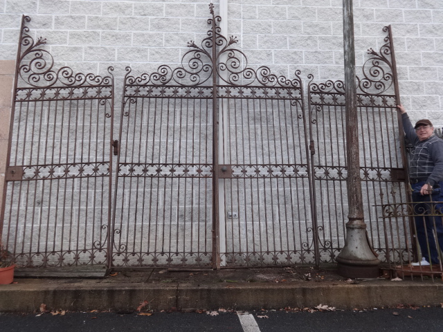 Antique iron fence and driveway gates tables beds for