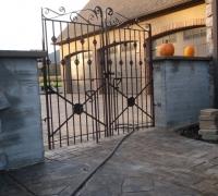 09-installed-antique-iron-gate...3 MORE ANTIQUE MATCHING PAIR OF GATES C. 1880...72