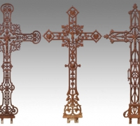 102-antique-gothic-iron-crosses-3-pcs-54-h