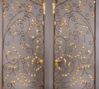 103-great-pr-of-antique-brass-and-iron-gates-6-w-x-86-h