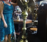 170  -brass-eagle-lectern- 61'' h x 21'' w x 19'' d - c.1880