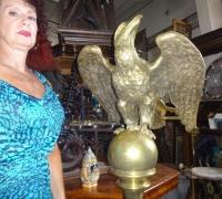 172 -brass-eagle-lectern-61'' h x 21'' w x 19'' d - c.1880