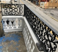 25BB.. EXAMPLES OF ANTIQUE IRON INSTALLED
