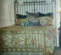 40 sold - antique-iron- gates altered into a king size bed -- MORE SIMILAR ARE AVAILABLE