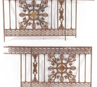 442...PAIR CAST IRON PANELS C. 1860 32