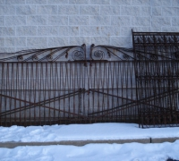 58-RARE! - 2 matching pr. antique driveway gates - c.1870 - 13' w each pr. x 67'' h