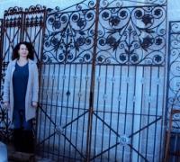 77-great-pair-antique-iron-gate-6-w-x-90-h